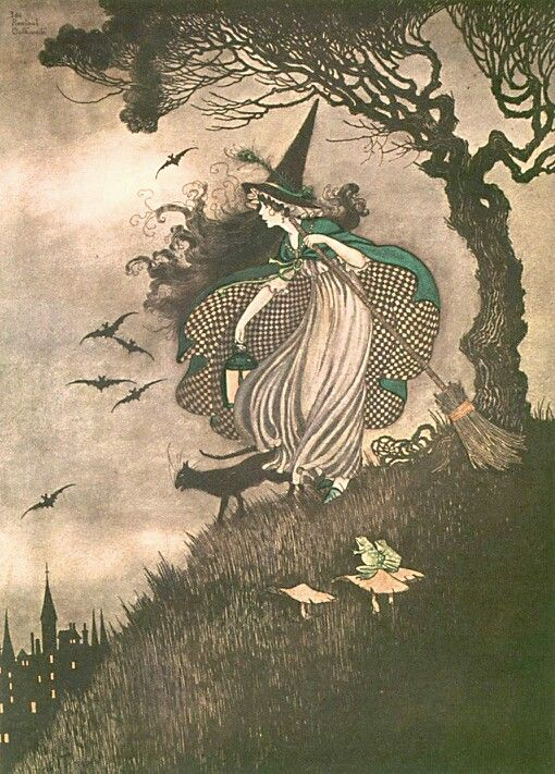 Oh, pies and flies!  I love it!  one of the illustrations in this universe I love the most..  I draw inspiration from this often.  Viva the master, ARTHUR RACKHAM!