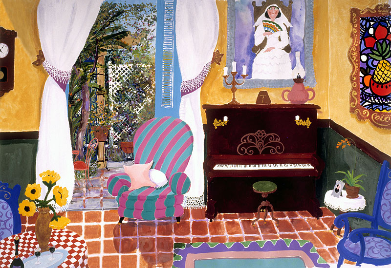 Interior with Amelia - Agustin Gainza