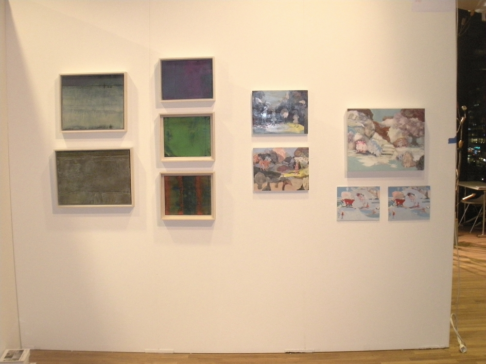 My paintings  on the left next to those of Jackie Berridge