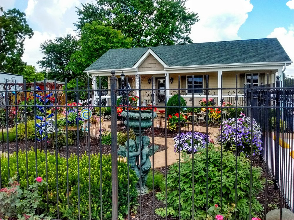 This pretty gallery is the home of South Shore Arts Crown Point Branch and Art in the Garden; 611 N. Indiana Avenue, Crown Point, IN