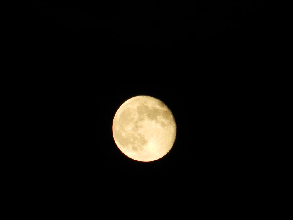 Waning solstice moon
