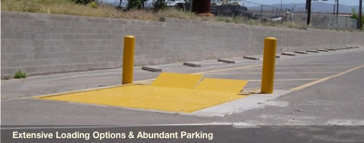 Excellent loading capabilities and abundant parking