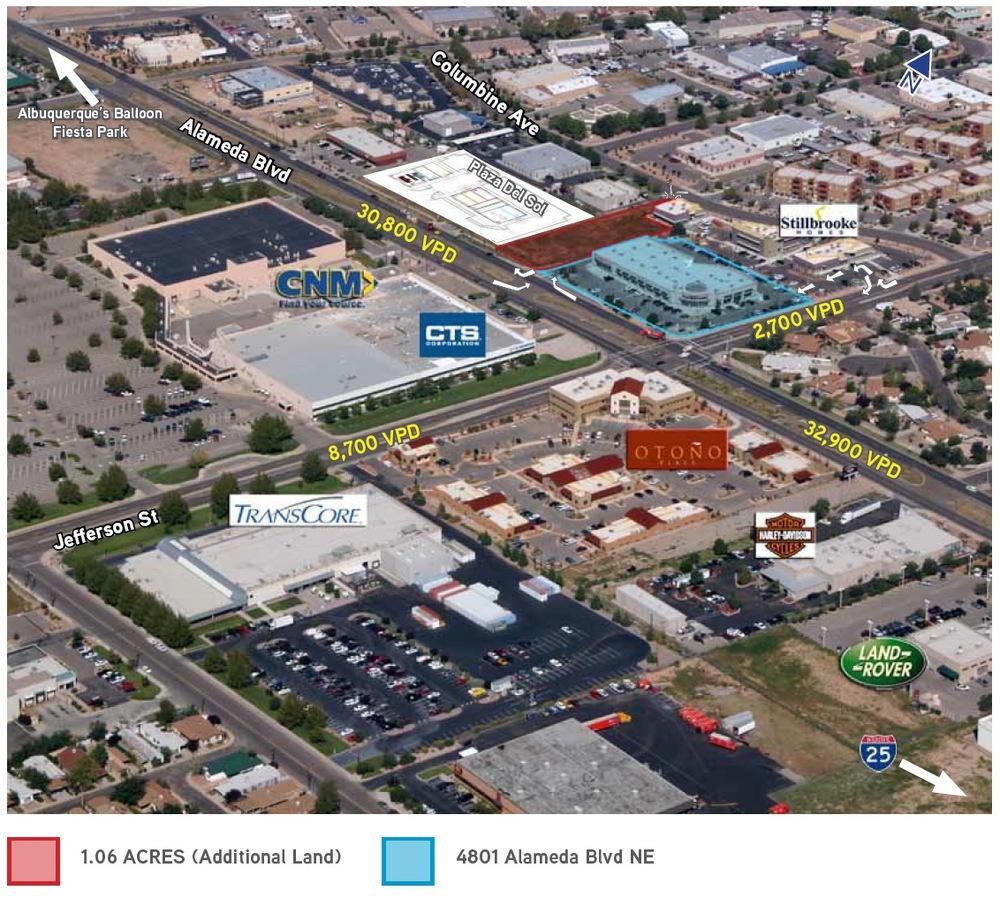 Aerial photo of 4801 Alameda Blvd NE