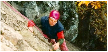Me on Brown Slab, belayed by Johann. We did Little Chamonix later that weekend in 1996.