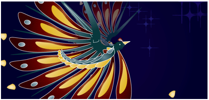 The Fractal Bird from Sydney Therese (link no longer works, and thanks to Alfred Bester