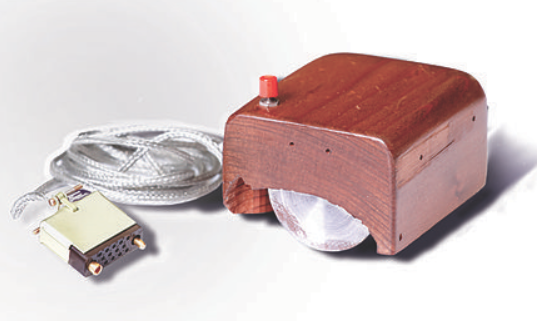 The first prototype of a computer mouse, as designed by Bill English from Engelbart's sketches
