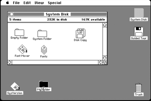 Original Mac user interface