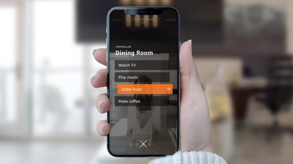 You can access various contextual menus that offer different features based on your location in the house.