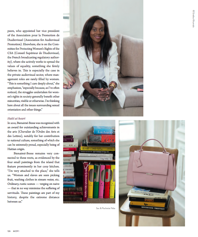 Carole Bienaimé Besse in MOYI Magazine. Interview by Francesca Photos by Maria Dawlat. With MOYI Magazine courtesy.