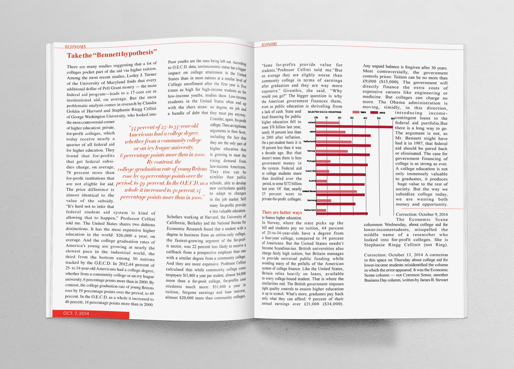 Full editorial mockup layout pt. 2