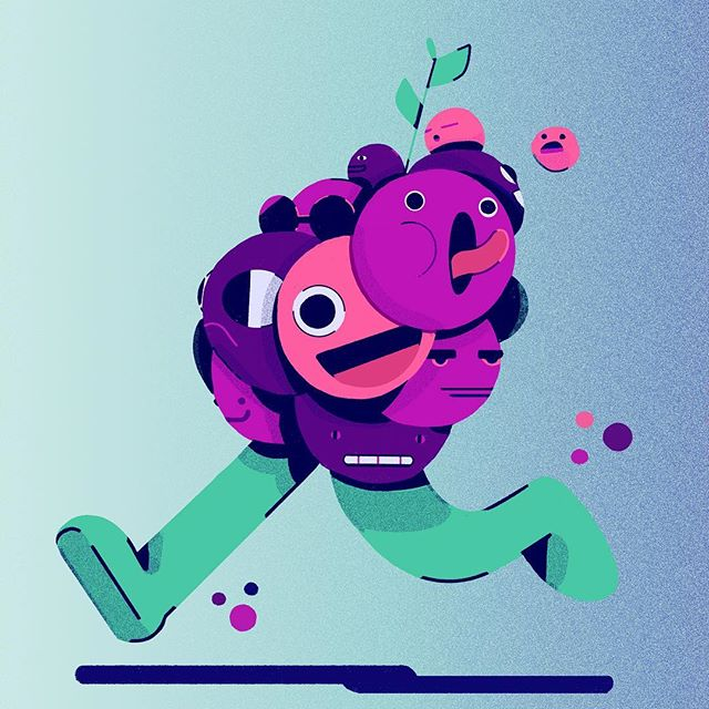 What a bunch of goofs 🙃🍇🙃🍇 . . . . . #drawing #grapes  #dudes  #itsnicethat #instaart #illustration #characterdesign #motiondesign #design #ballpitmag #creative #art #motion #mgcollective #2D #photoshop  #adobe