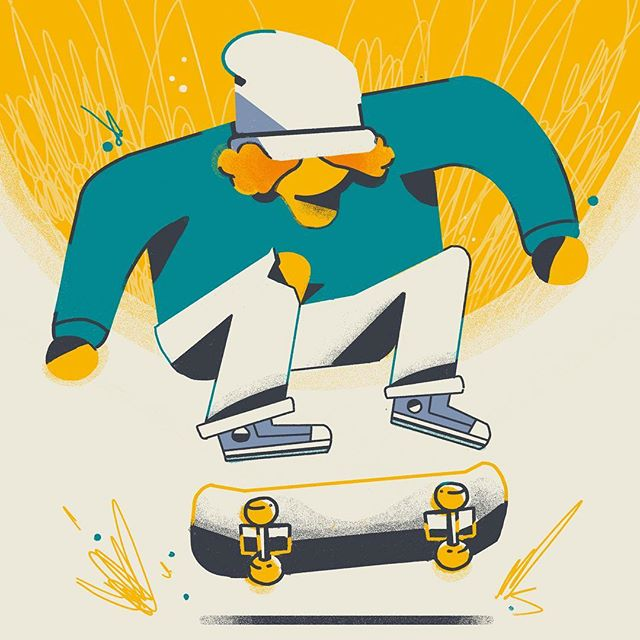 Let's shred this week dudes 🤙✨🤙 . . . . #design #drawing #skate #skateboarding #illustration #instagood #abstractart #itsnicethat #socfeature  #2d #adobe #characterdesign #motionlovers