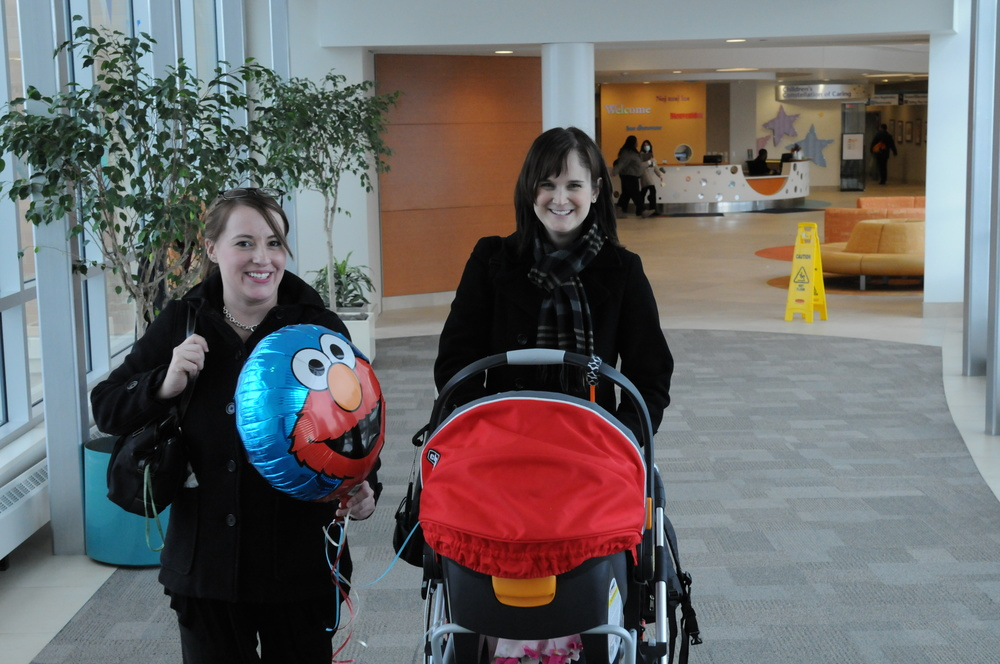 This was the amazing day in Feb 2011 that we finally were able to take Reagan home after 7 months in the NICU. Pictured is one of our awesome home care RN's that helped us transition to home with a medically fragile child. Thanks Jade!    #  PHSkidsthrive