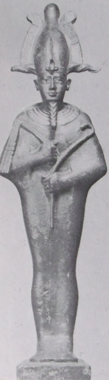 "The Egyptian god Osiris [From the ""Ancient Near East"" Princeton University Press 1958]"