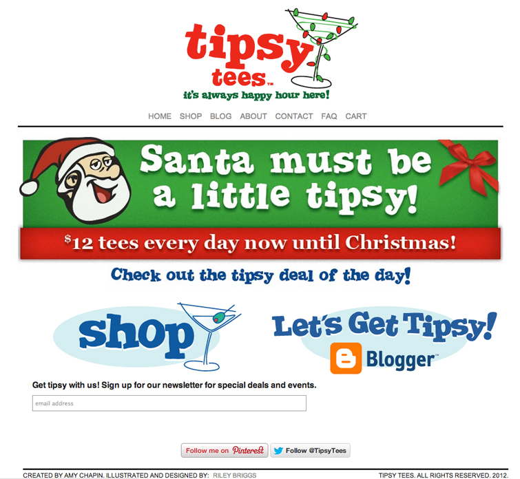 The holiday version of the site.