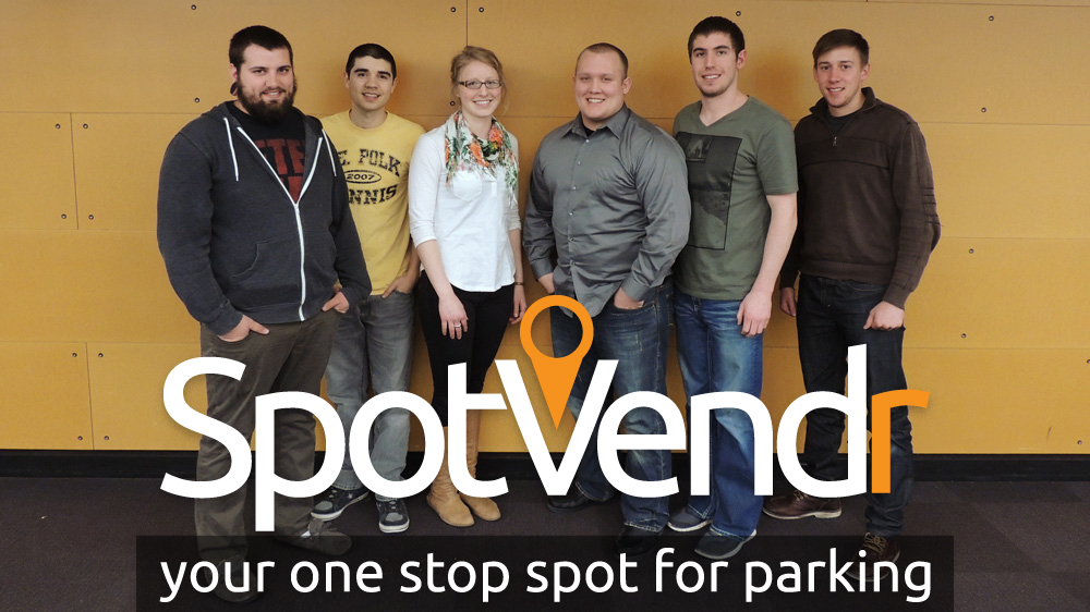 The SpotVendr team at Startup Weekend Ames