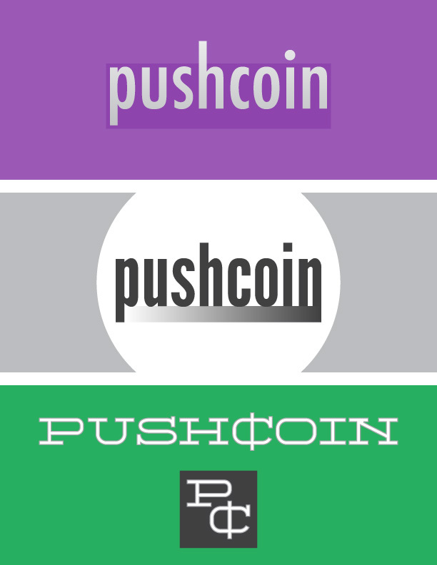 pushcoin logo ideas