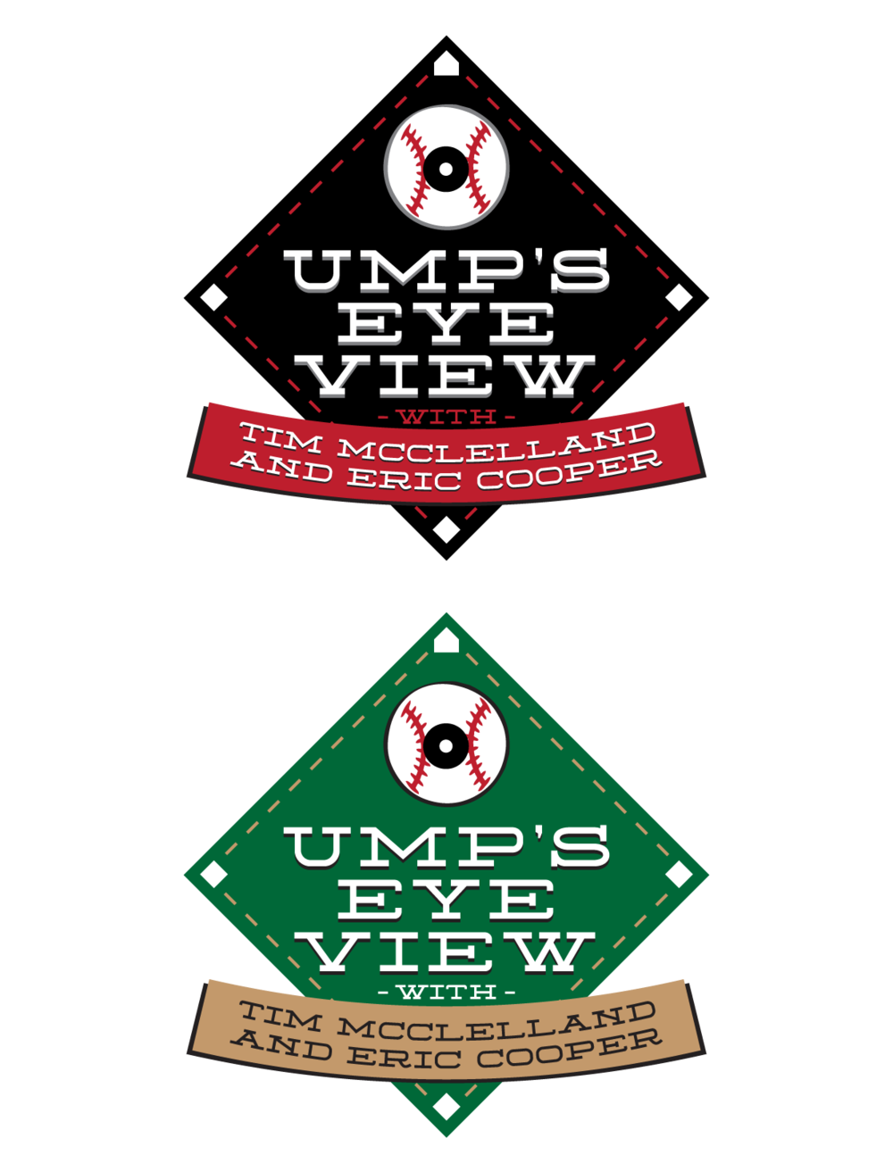 Ump's Eye View logo for a radio show at Rockstar Satellite