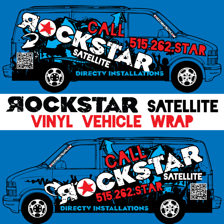 ROCKSTAR SATELLITE vinyl vehicle wrap design