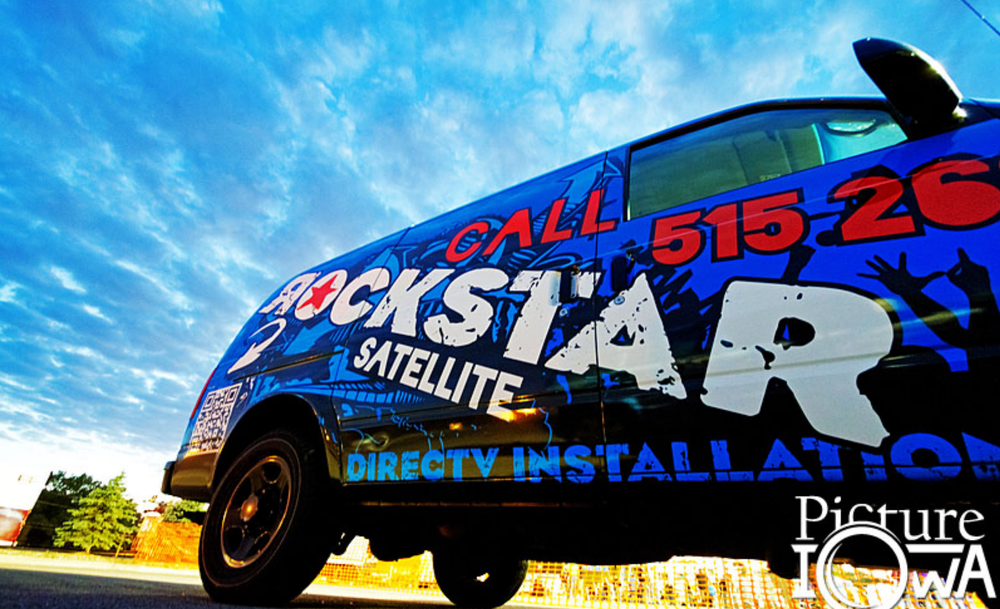 ROCKSTAR SATELLITE vinyl vehicle wrap