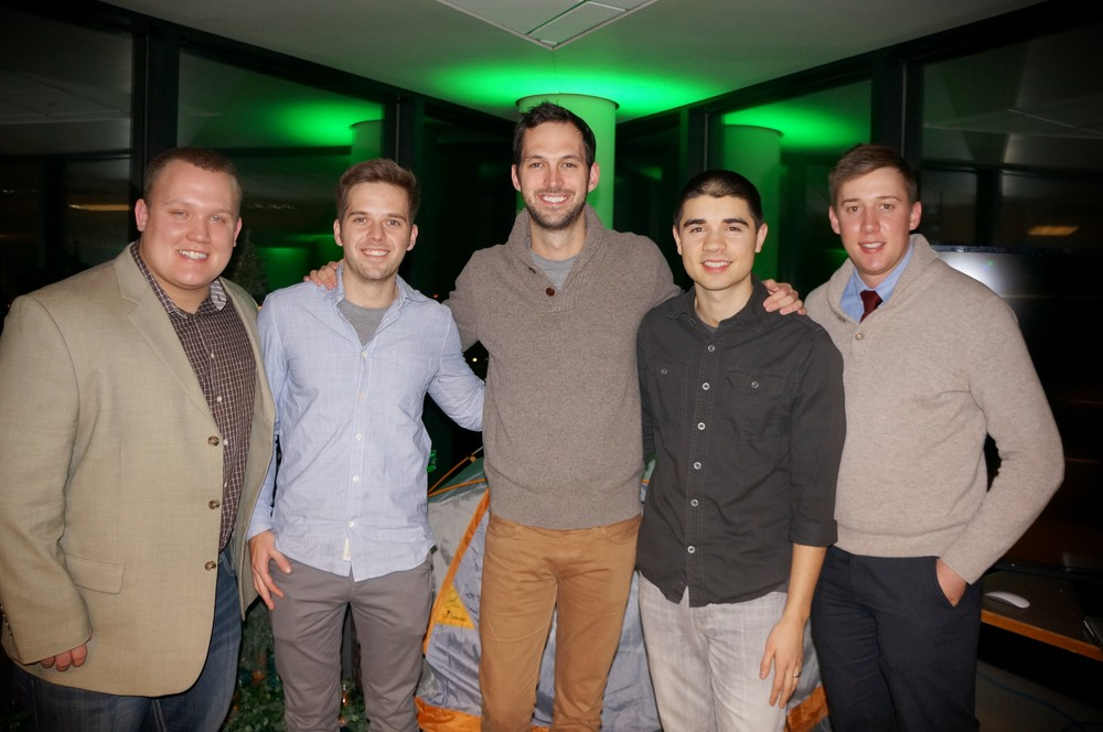 Blake Anderson   ,   Rick Knudtson   ,   John Meyer   ,   Riley J Briggs   and   Sean Richardson   at   Ho Chunk Centre   .