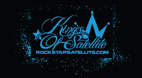 "Kings of Satellite ""stencil"" shirt design"