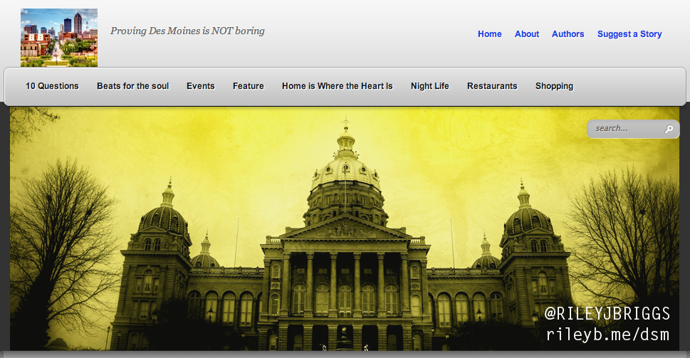 1 of my 3 cover photos on Des Moines is NOT Boring's blog