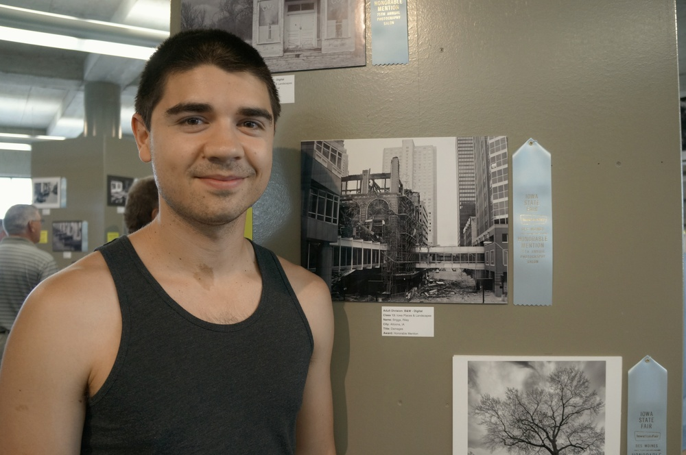 "Me with my Honorable Mention ""Damages""."