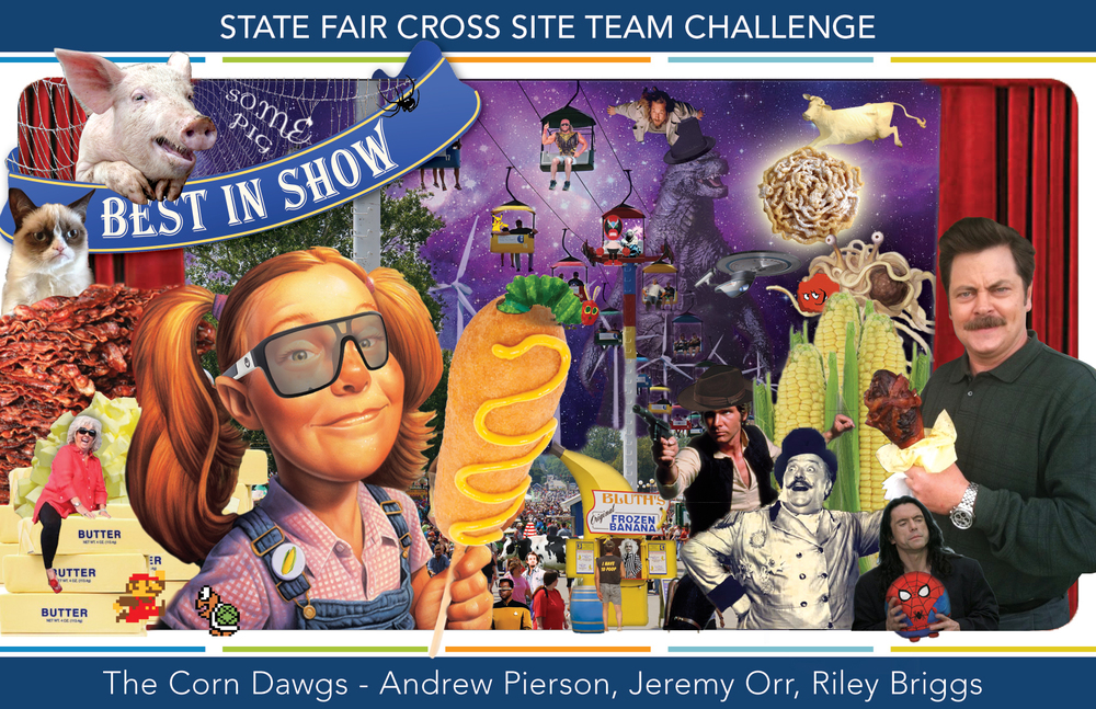 STATE FAIR CROSS SITE TEAM CHALLENGE by The Corn Dawgs - Andrew, Jeremy and Riley (me)
