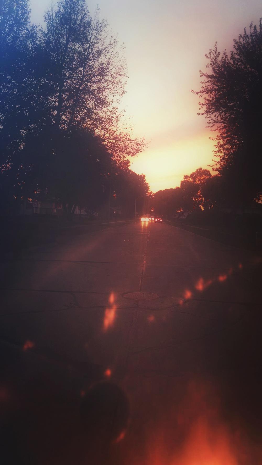 Just a shot down my street after an evening walk.