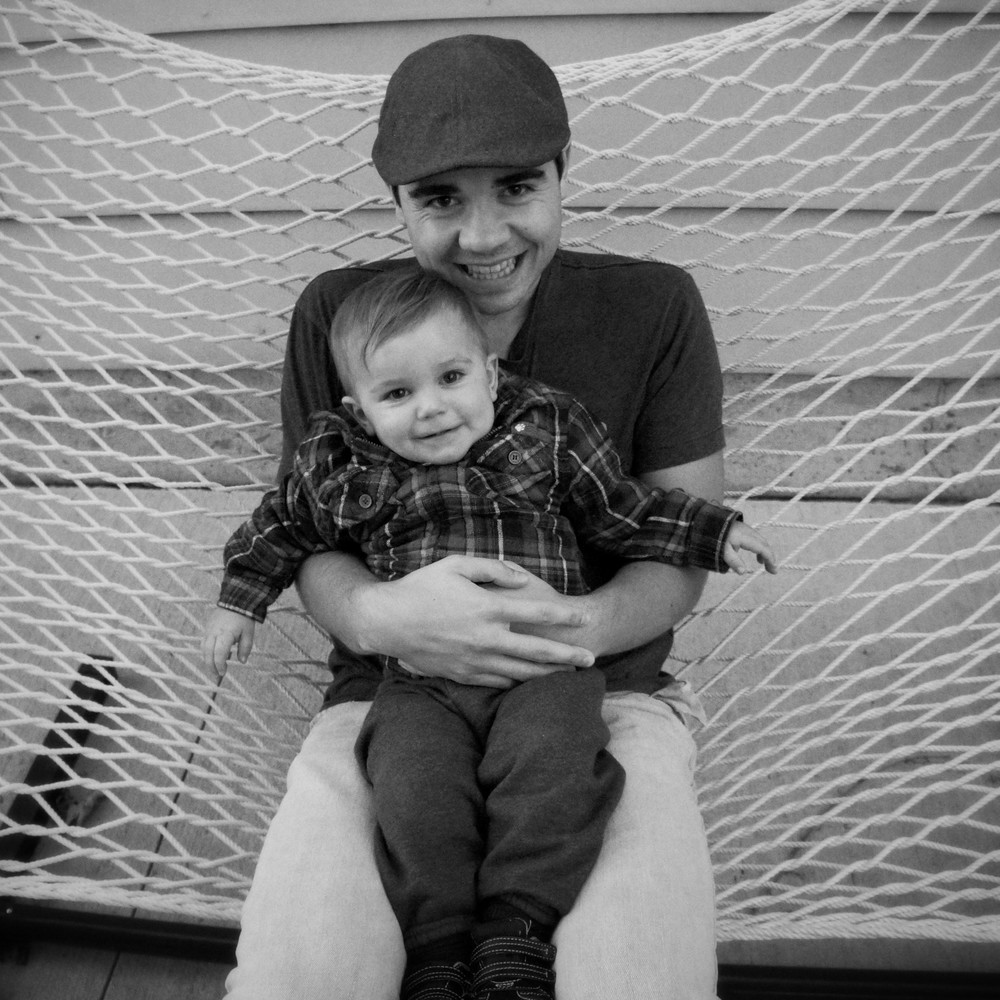 Me and Ryker cuddling in our hammock