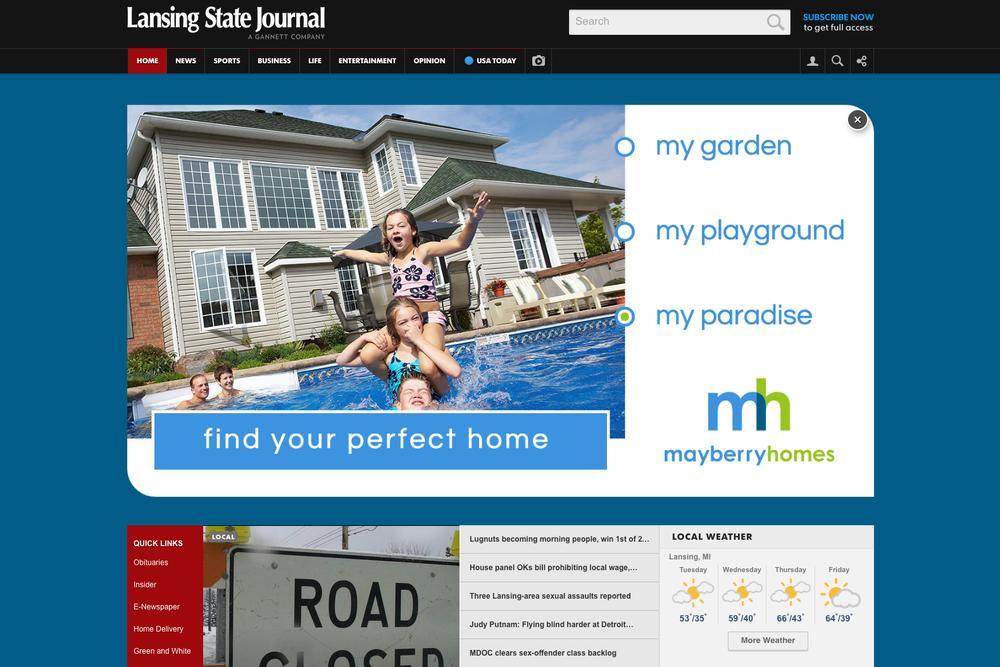 HTML5 Pushdown ad