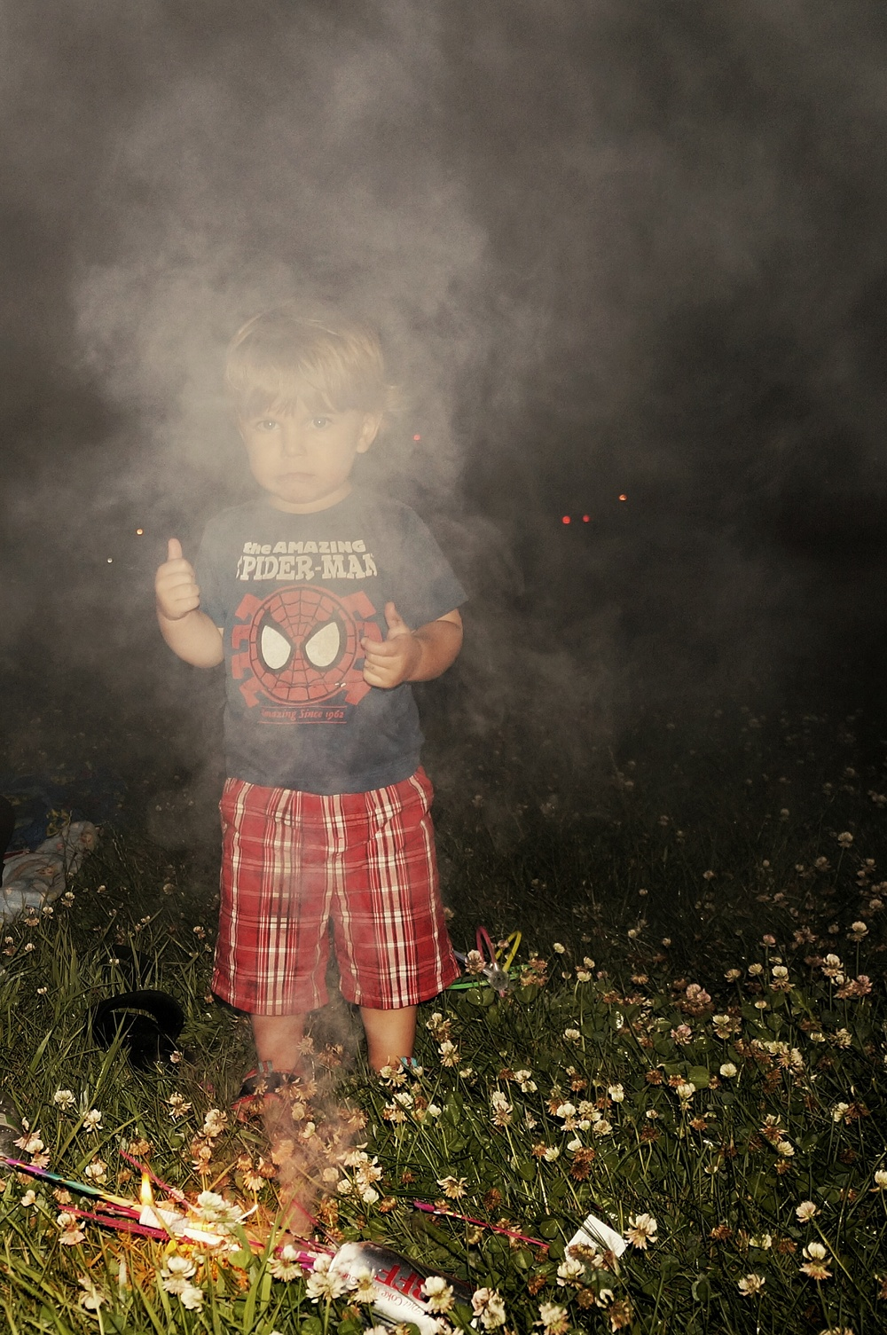 Too young to hold a sparkler :(