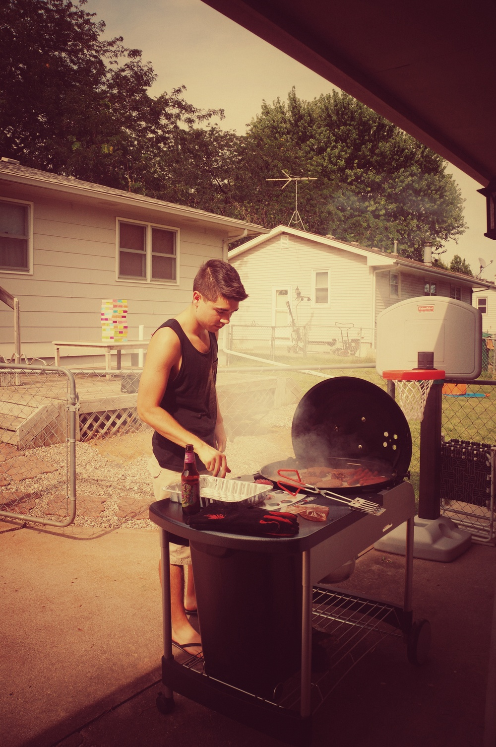 Me on the grill