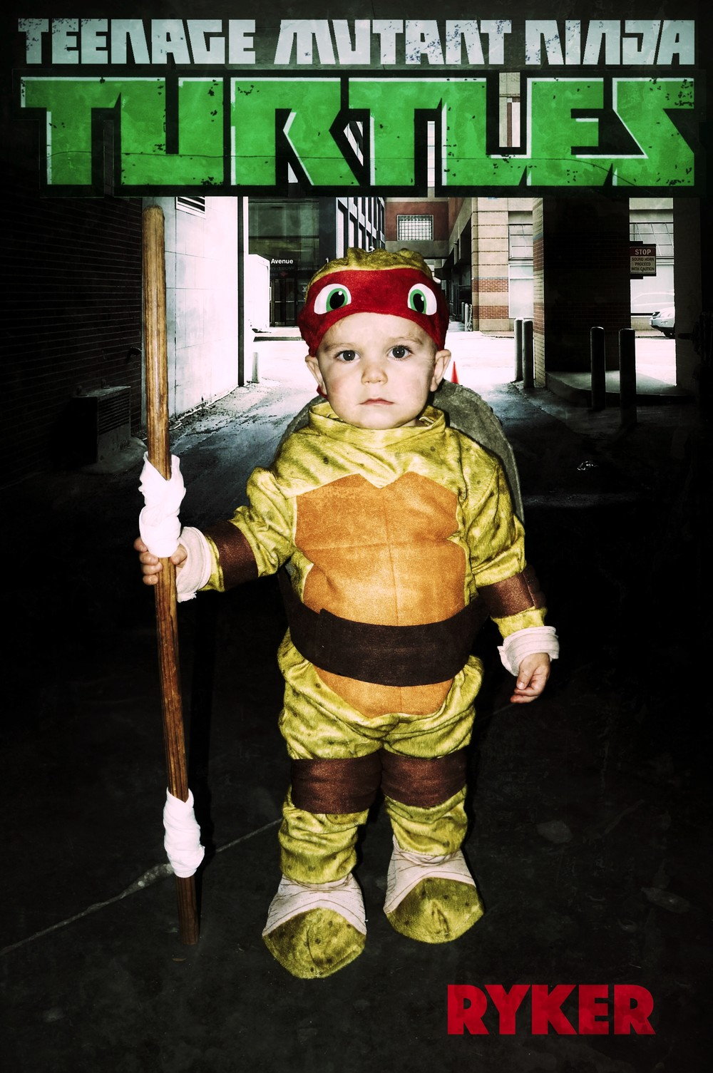 Ryker as a Ninja Turtle