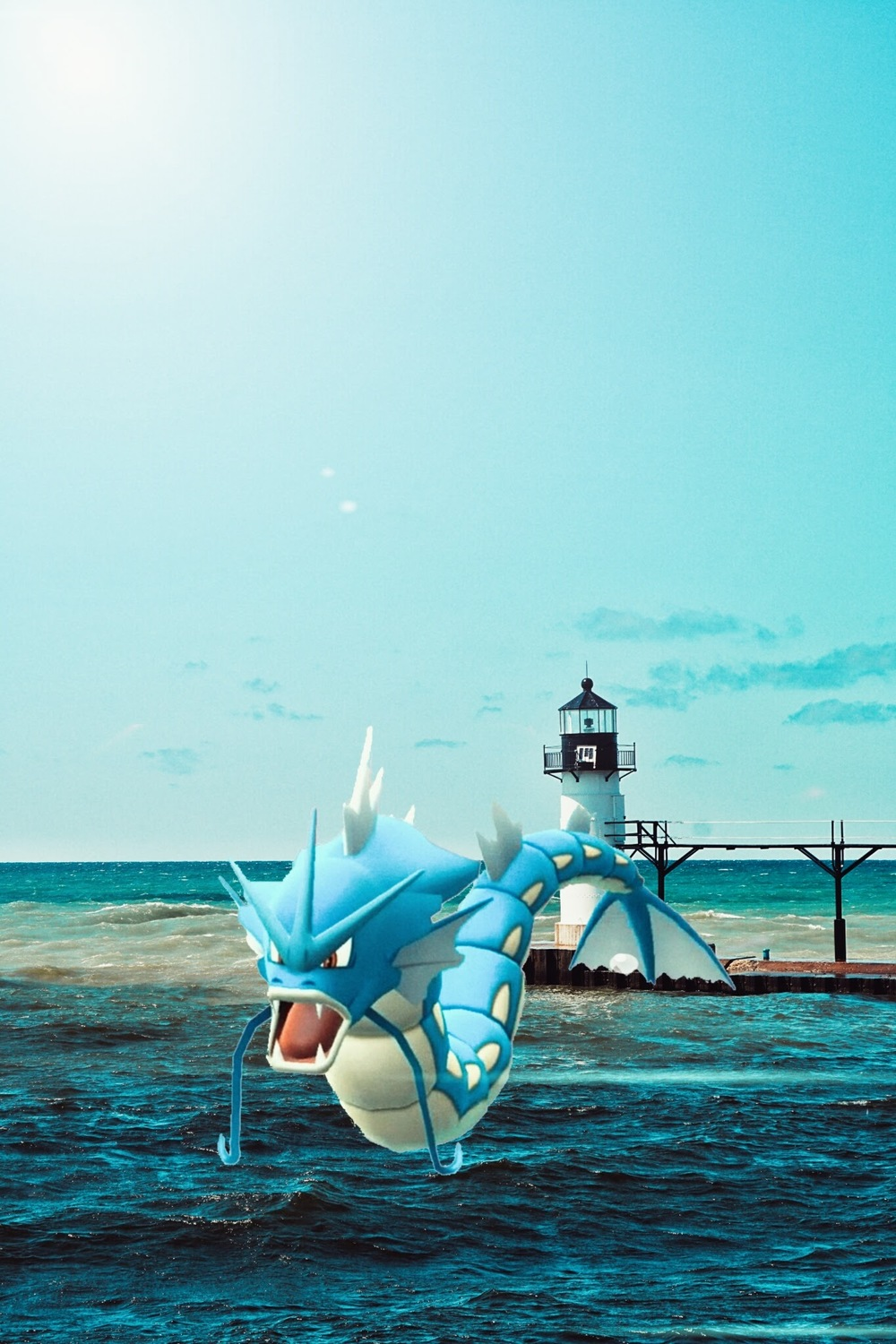 Gyarados in Lake Michigan