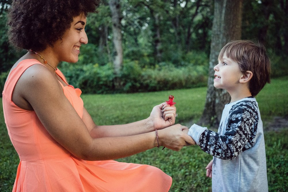 Amira proposing to my son, Ryker, her ring bearer