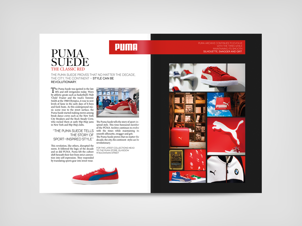 Puma store Advertorial / Photography