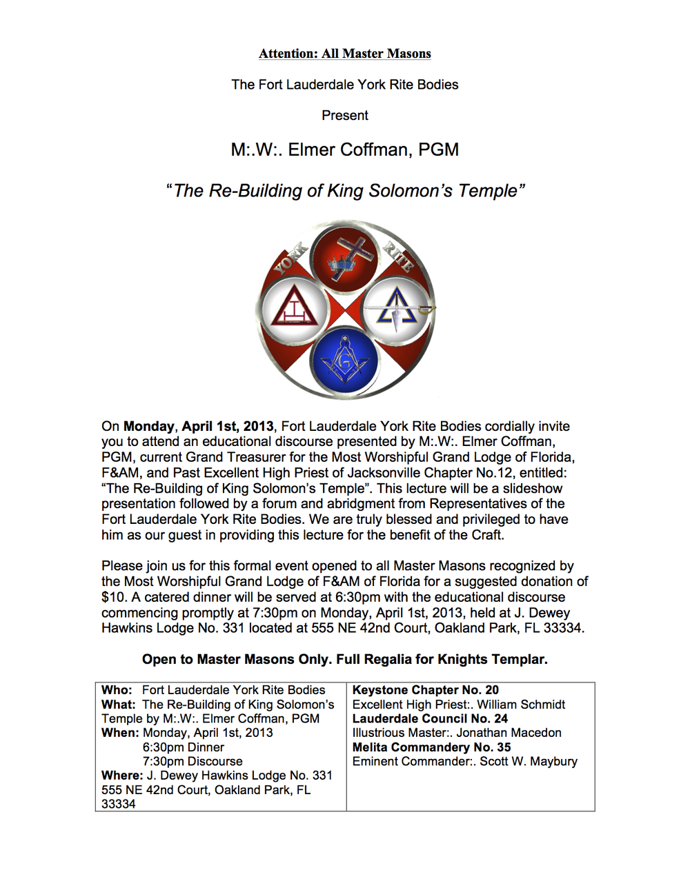 The PDF so you can print and share in your lodge