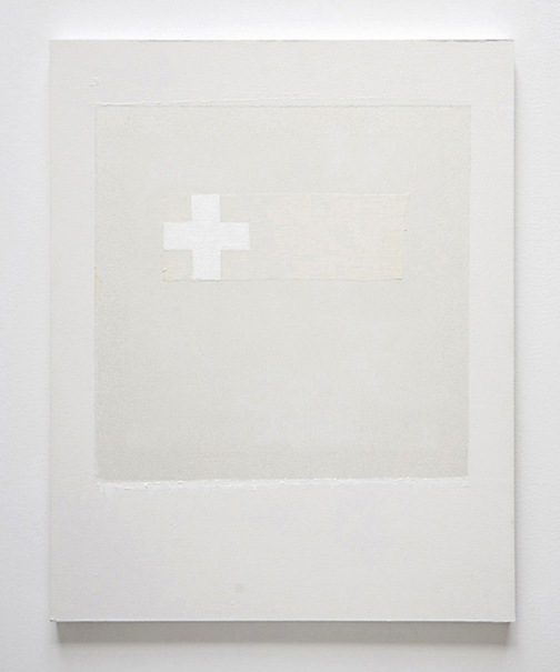 white cross with gauze 16x20