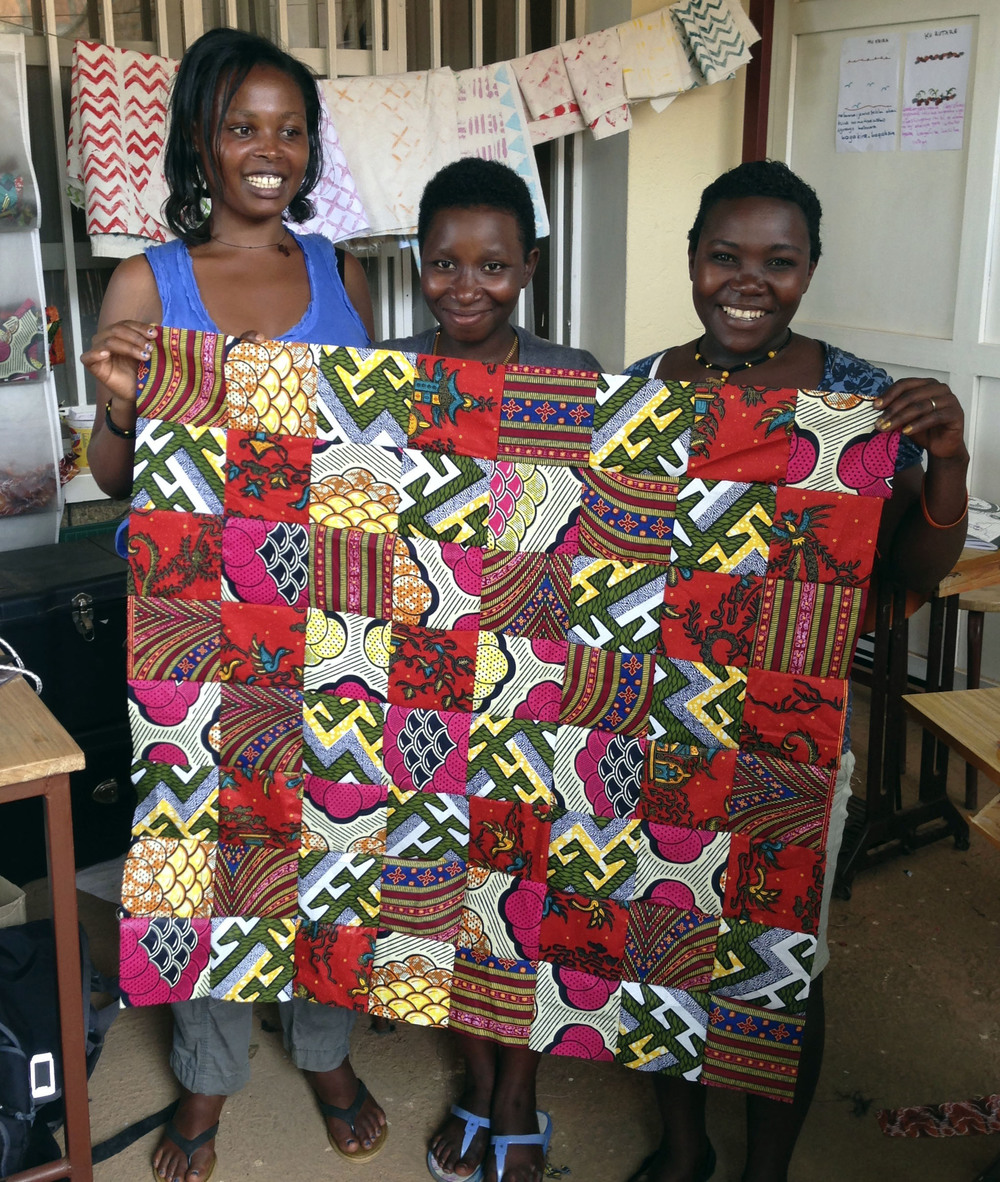 The first quilt-top that Cynthia, Therese, & Josiane completed.