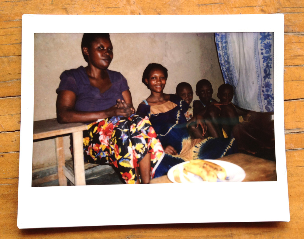 Dorcas with her mother and brothers.