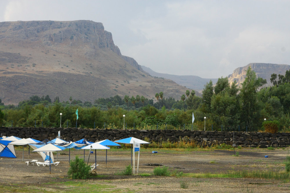 Mount Arbel as seen from the Sea of Galilee