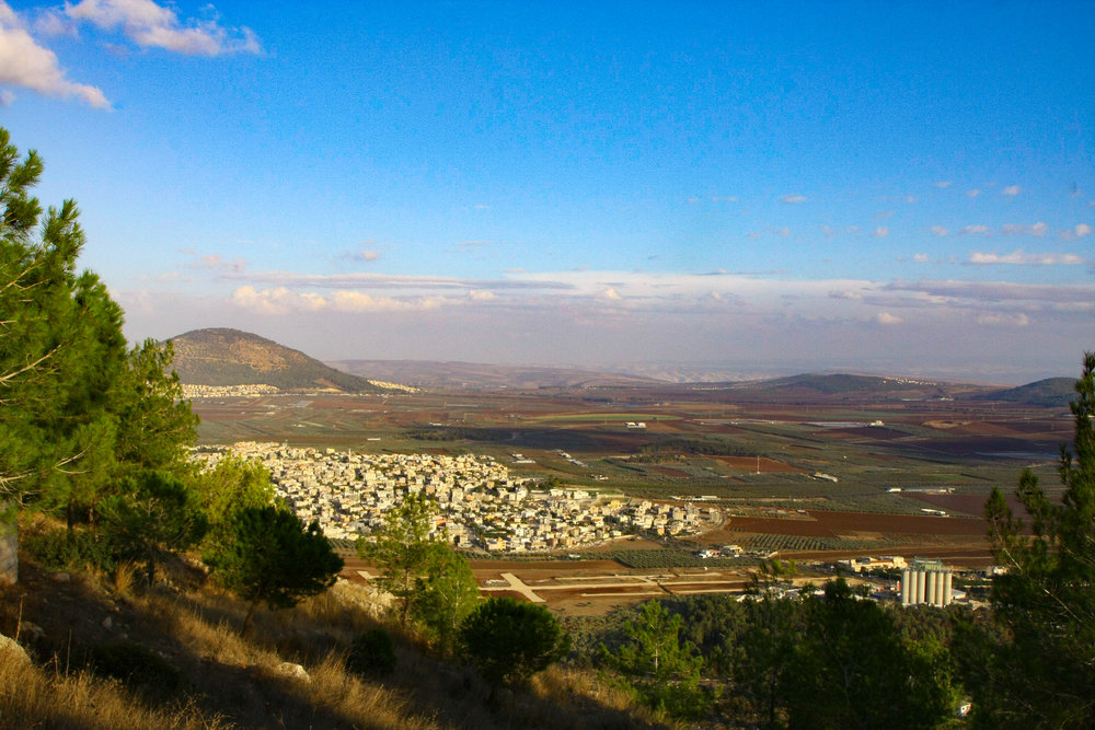 View of Jezreel Valley from Mount Precipice