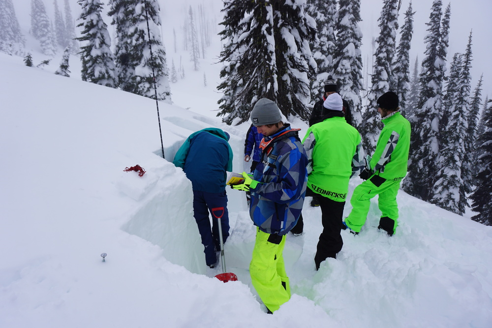 Poor visibility and sub par conditions are a great time to get caught up with what is going on in the snowpack.