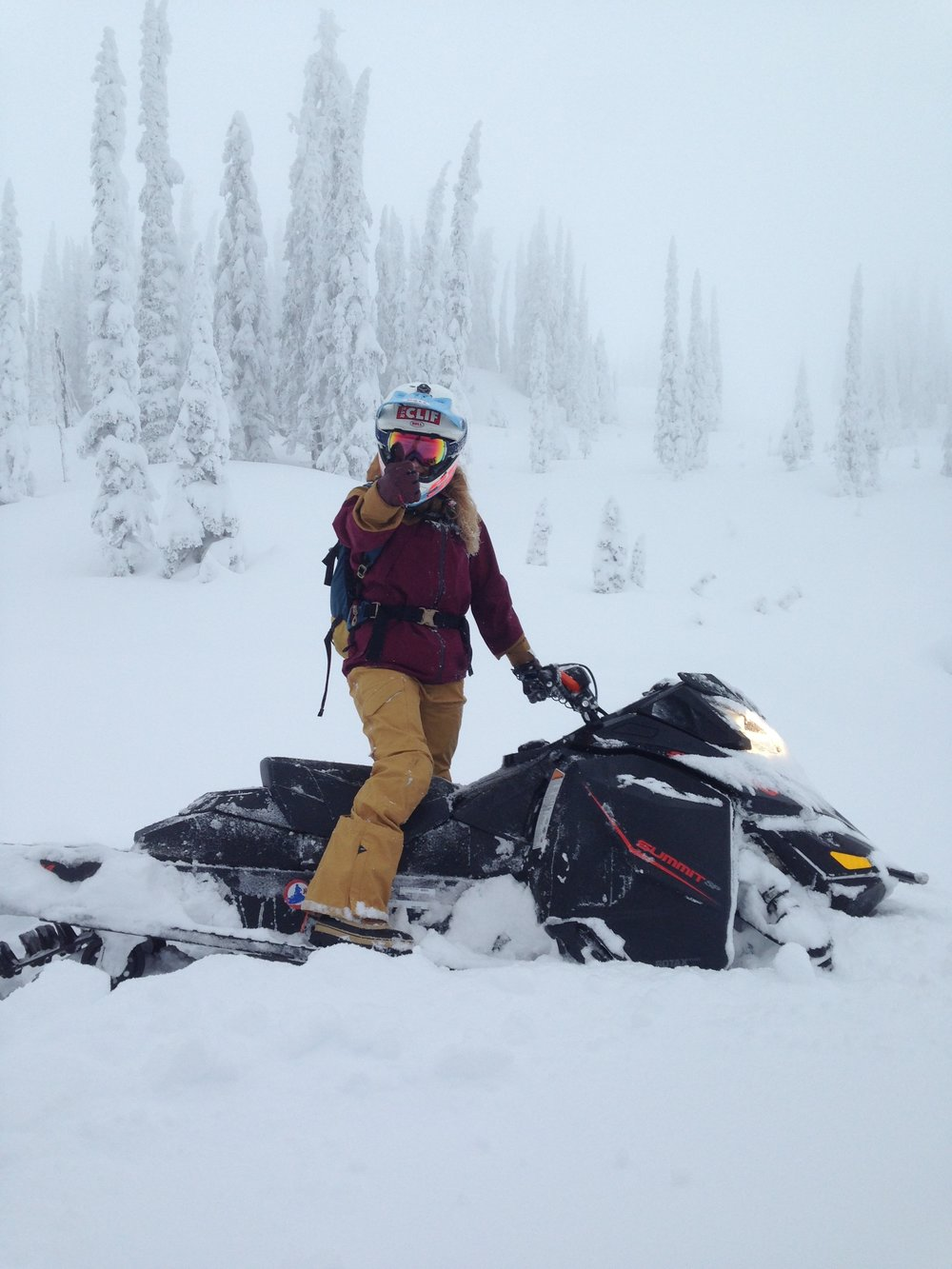 Got to take out the talented Casey Brown for a rip and here she is telling us just how good the snow is.....