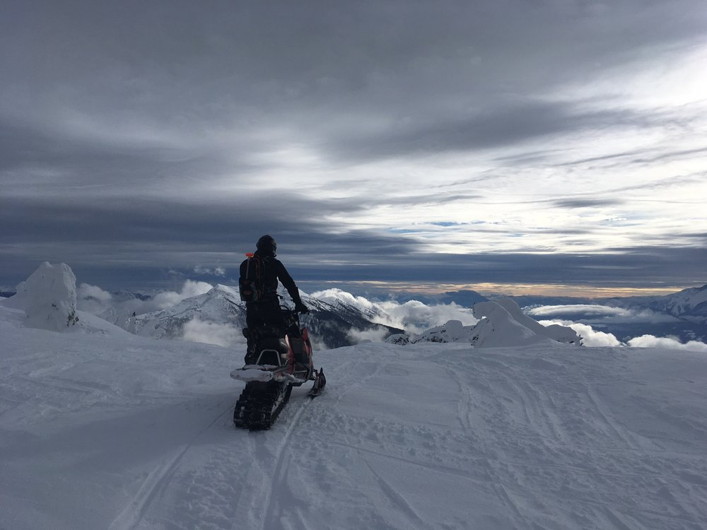 The snow may not be at it's best, but the views are second to none these days!