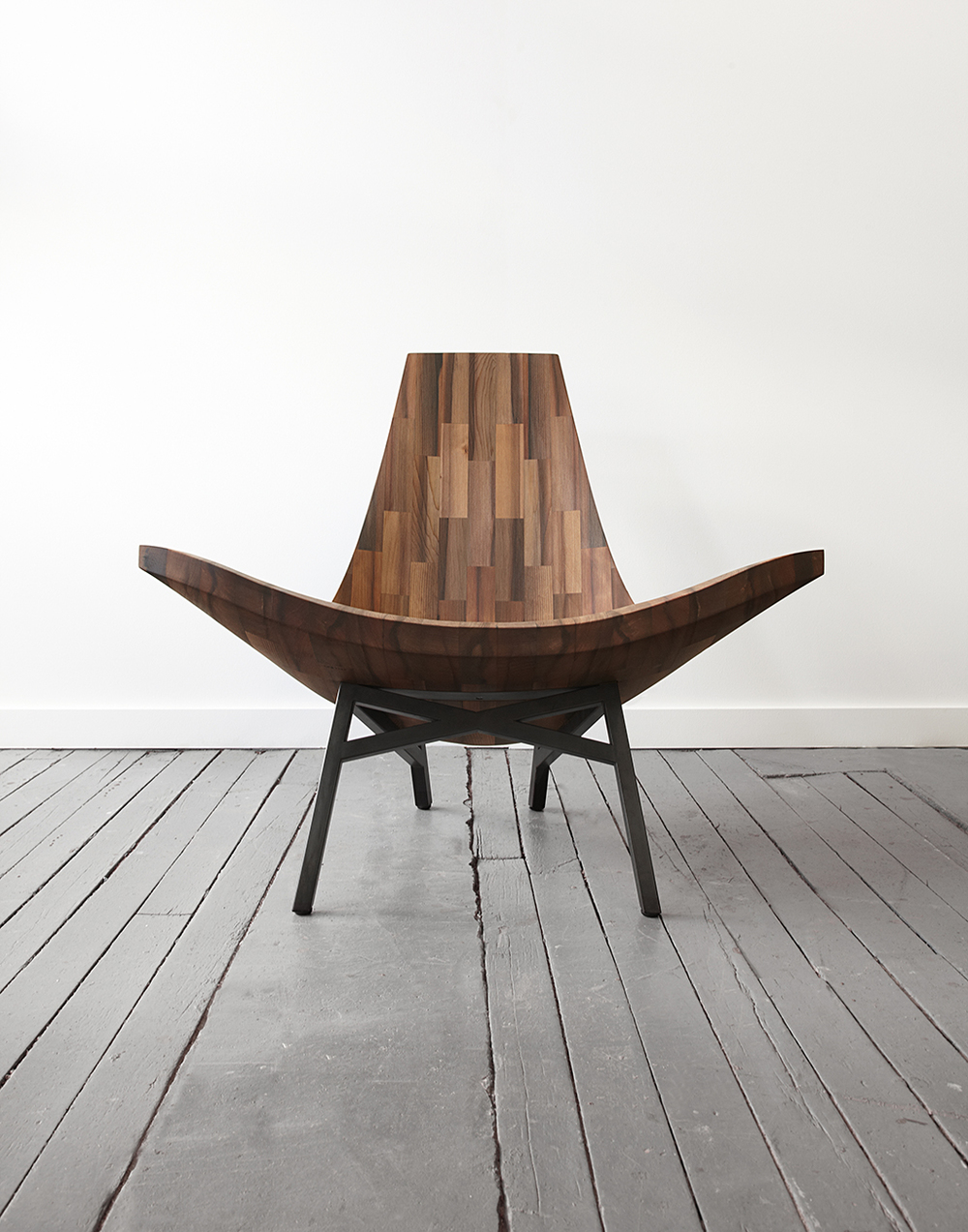 Water Tower Chair: lounge chair made from reclaimed timbers of a New York City Water Tower