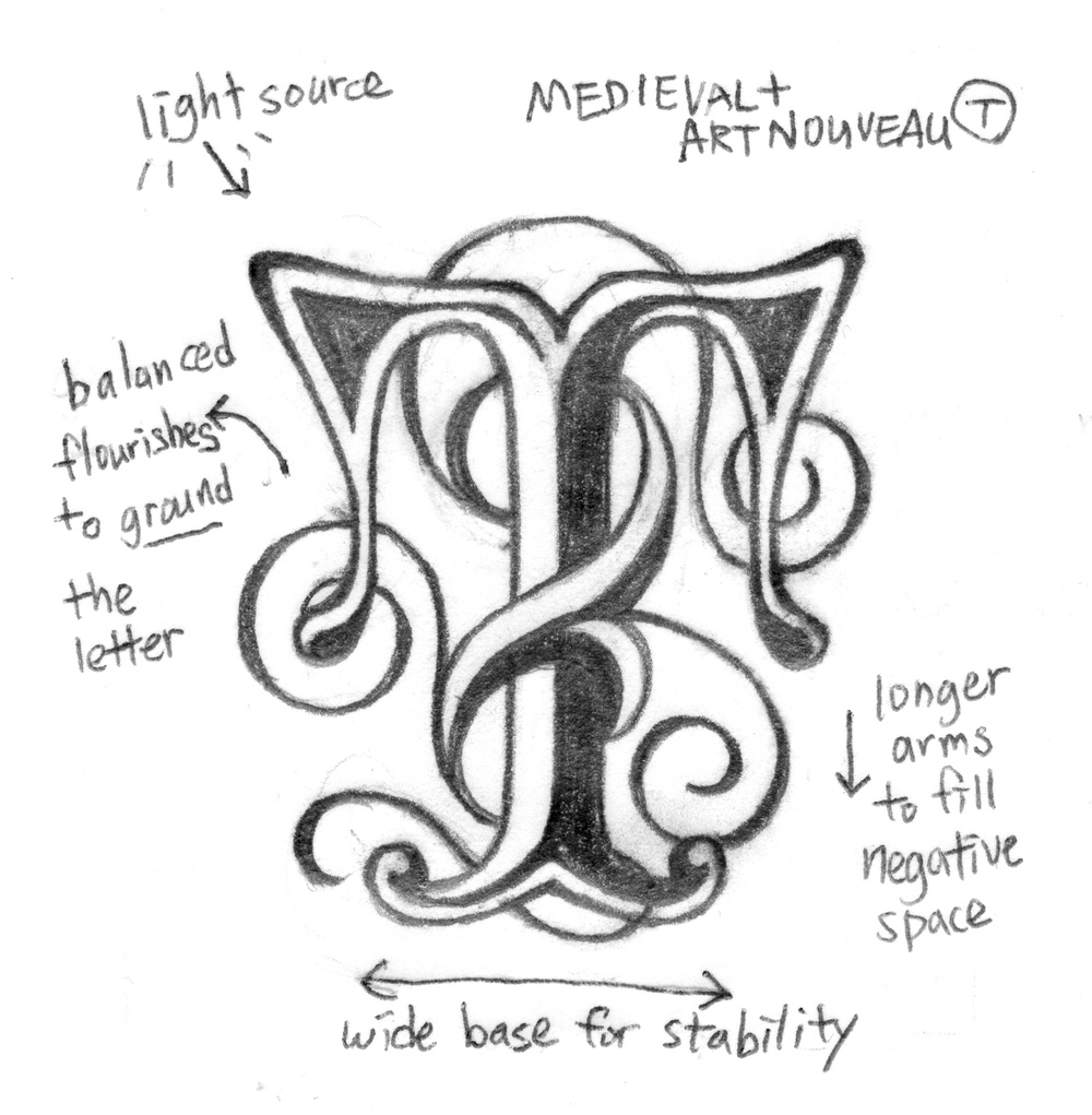 I Started Sketching Letters