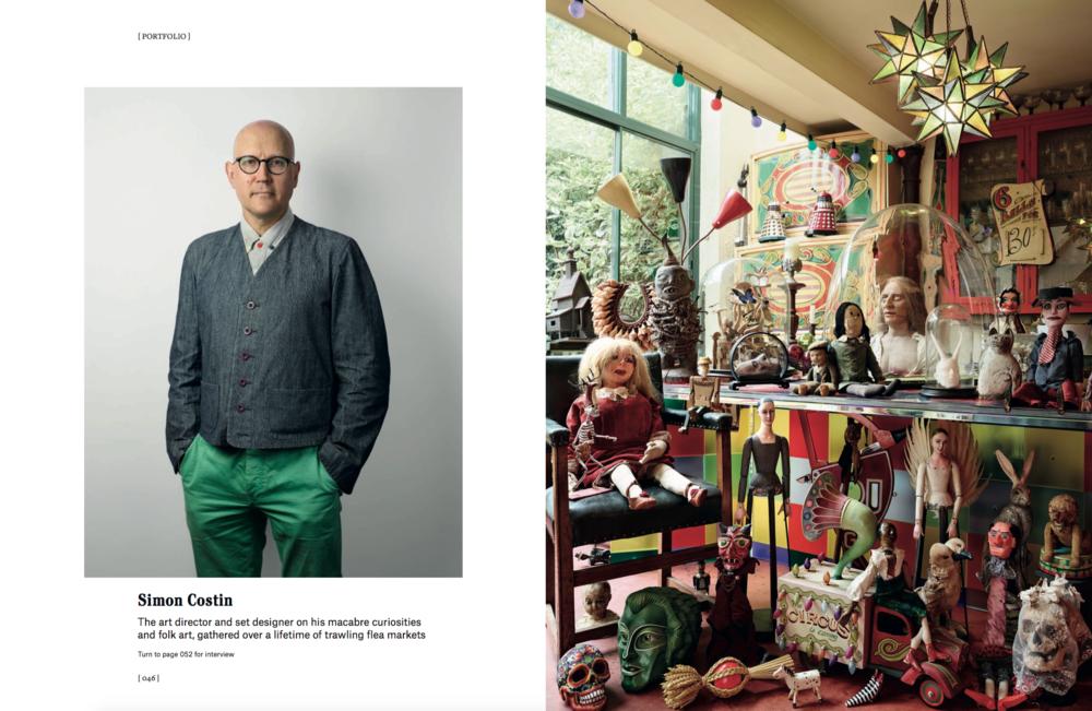 Christie's Magazine, portrait of Simon Costin, photography by James Mollison